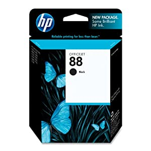 HP 88 Black Officejet Ink Cartridge (C9385AN)