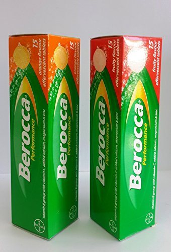 Berocca Performance Couple Flavor Effervescent Tablets Sharpen Up Everyday Think Smarter And Act Faster With This Unique, Clinically Proven Synergy Of B Vitamins, Vitamin C And Essential Minerals Like Calcium, Magnesium And Zinc 15+15 Tablets (Fruity Flav