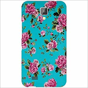Gionee Pioneer P2S - Silicon Floral Phone Cover