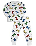 Planet Color by Todd Parr - Boys Long Sleeve Dog Pajamas, White, Multi