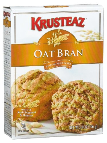 Krusteaz Oat Bran Muffin Mix, 14-Ounce Boxes (Pack of 12)
