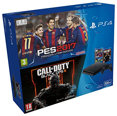 PlayStation 4 Slim (PS4) 500 GB - Consola + Pro Evolution Soccer 2017 + Call Of Duty: Black Ops III