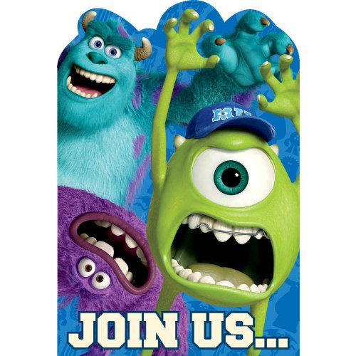 Monsters University Inc. Invitations w / Envelopes (8ct)