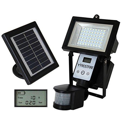 Frostfire - Faretti solari a 80 LED con sensori di movimento, colore ultra chiaro