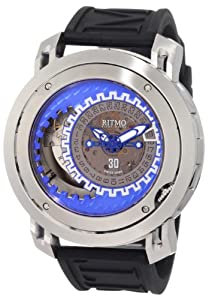 Ritmo Mundo Men's 202/2 Blue SS Persepolis Dual-Time Exhibition Automatic Watch