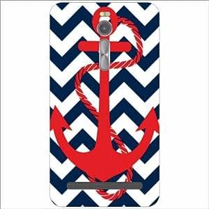 Asus ZenFone 2 ZE551ML Back Cover - Red Anchor Designer Cases
