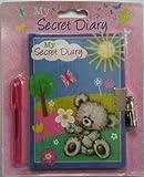 MY SECRET DIARY LOCKABLE BEAR DIARY BOOK WITH PADLOCK DIARY KIDS GIFT NEW PACK