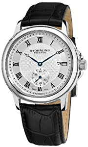 Stuhrling Prestige Men's 357.33152 Prestige Swiss Made Laurel Automatic Date Silver Tone Watch