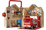 [HSB] Fireman-Sam Deluxe Fire Station Playset with Pack of 10 Safety Door Stoppers