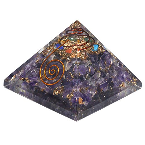 Amethyst Orgone Pyramid Energy Balancing Generator 2Inches Base Large Size, Purple (Pyramid Energy compare prices)