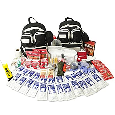 Urban Survival Bug Out Bag, Choose from 2 or 4 Person Emergency Disaster Kit, Emergency Zone Brand (2 Person)