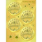 Trend Enterprises トレンド Award Seals Stickers Excellence (Gold) 【英語教材 ごほうびシール】 金メダル型ステッカー(エクセレンス・32枚入り)T-74003