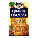 Quaker Oatmeal Peaches Cream