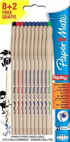 Papermate S0182941 Replay Penna a Sfera, Set M 8+2
