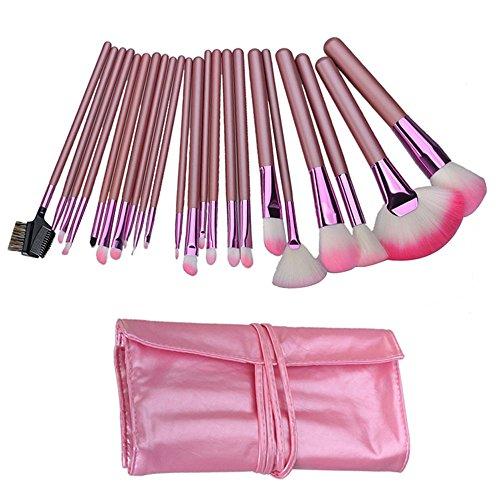 Yihya 22 Pcs Professionale Fondazione Polvere Pennello da Trucco Spazzole Kit Sopracciglio Ombra Lip Blush Pennelli Cosmetico Make Up Brushes Kit Manico in Legno set con il Sacchetto -