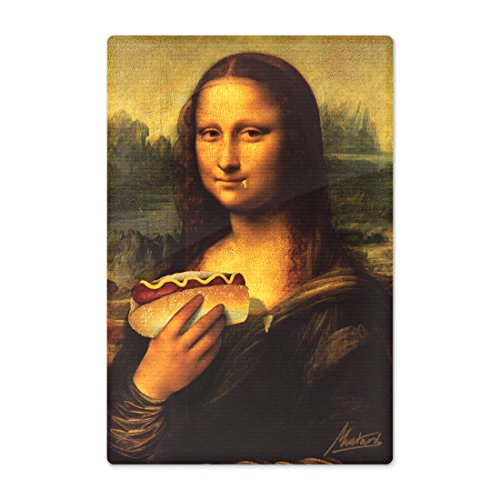 Moutarde joyau-Hungry Lisa-Funny Planche à découper en verre trempé