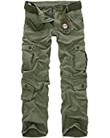 """HEMOON Adults Mens Military Style Combat Twill Cargo Trousers 29""""-38""""(WITHOUT BELT)"""