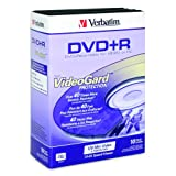 Verbatim DVD+R 4.7GB 8X 10pk Video Trimcases (With VideoGard Protection) ~ Verbatim