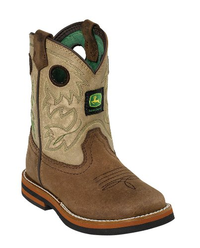 John Deere Infant Sq Toe Pull-On Boots 6.5 Tan