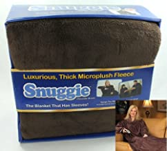 SNUGGIE Microplush Thick Fleece Blanket Chocolate Brown