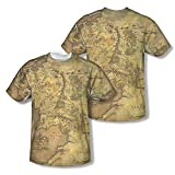 Lord of the Rings Action Movie Middle Earth Map Youth 2-Sided Print T-Shirt