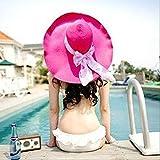 リゾート気分 大きい 麦わら帽子 ストローハット スカーフ 付 選べる カラー 8色 折りたたみ 可 紫外線 防止 かわいい レディース 人気