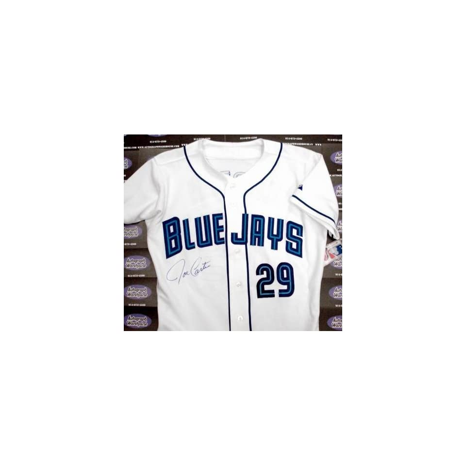 032e7027612 Joe Carter Autographed Toronto Blue Jays Jersey (1992 1993 World Series  Champion)