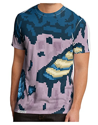 TooLoud Pixel Zombie Costume Blue Men's Sub Tee Single Side All Over Print