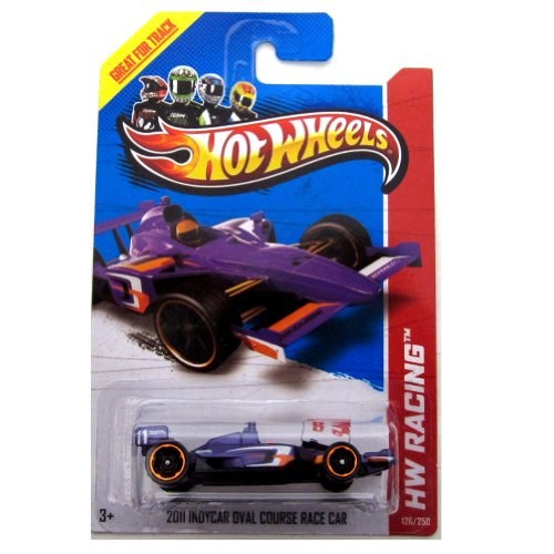 Hot Wheels 2013 HW Racing 2011 INDYCAR OVAL COURSE RACE CAR - Track Aces - 126/250 1:64 scale - 1