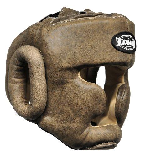 Premium Retro Rindsleder Full Face Kopfschutz braun