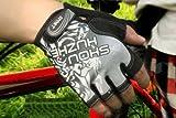 ハーフフィンガー グローブ / ロードバイク サイクル メンズ / 指切りタイプ 4カラー ( ブルー レッド グレー オレンジ ) / 2サイズ M・L (〈グレー〉, L)