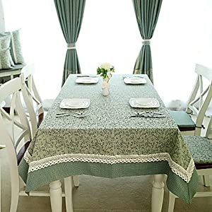BST Kitchen Table Linens American Country Style Cyan Floral Poly