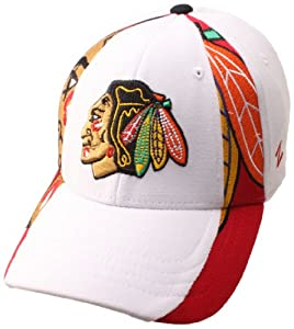 NHL Chicago Blackhawks Standout Hat, Red/White, Medium/Large