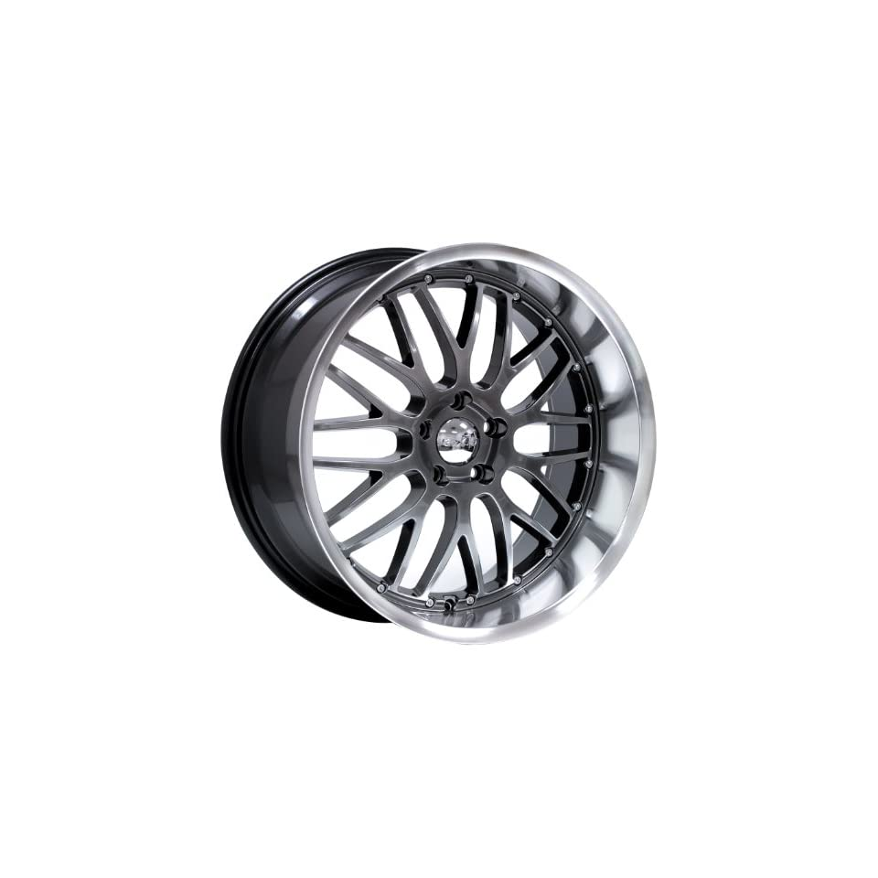 20x10 Axis Penta (Hyper Black w/ Machine Polished Lip) Wheels/Rims 5x114.3 (PEN0105H25HBL) Automotive