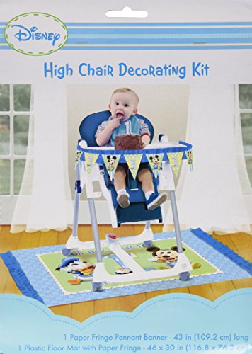 Amscan Mickey Mouse 1st Birthday High Chair Decorating Kit