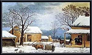 Home, Thanksgiving, Framed Art Print by Currier and Ives