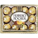 FERRERO ROCHER ITALIAN CHOCOLATE HAZELNUT CANDY 12 PC BOX (Tamaño: 12 pc)