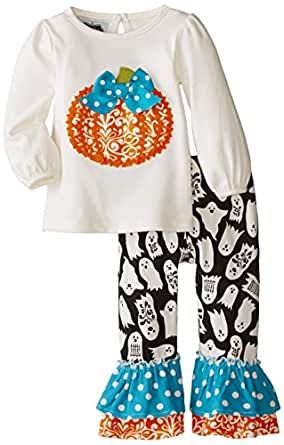 mud pie baby pumpkin pant set clothing