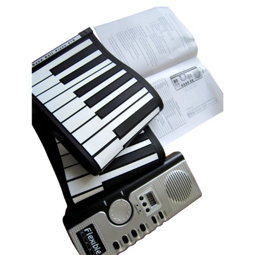 Portable and Digital Hand – 61 Keys Soft Roll up Electronic Piano Keyboard