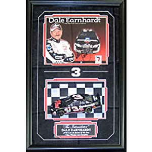 Dale Earnhardt Autographed Signed Framed 8x10 Photo w  Unsigned 1:24 Scale Car Shadow... by Memorabilia