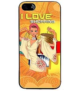 Fuson Shopping Lover Girl Back Case Cover for APPLE IPHONE 5 - D4096