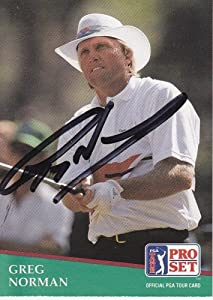 Greg Norman Autographed Hand Signed Pro Set Golf Trading Card by Real Deal Memorabilia