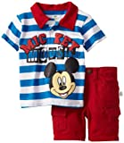 Disney Boys 2-7 2 Piece Knit Shirt And Woven Short
