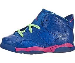 Jordan VI (6) Retro (Toddler) - Game Royal / White-Vivid Pink-Light Lucid Green, 8.5 M US