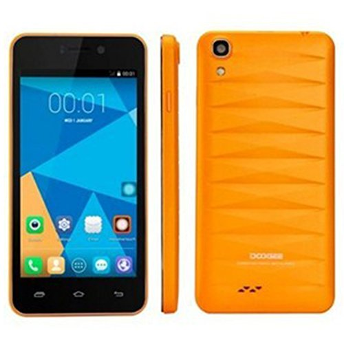 DOOGEE DG800 4.5 Inch IPS Screen MTK6582 Quad Core 1.3GHz Android 4.4.2 1GB/8GB Dual SIM Dual Standby 3G Smartphone 8.0MP/13.0MP Dual Cameras Wifi GPS (Orange) 51D9LTYRV1L