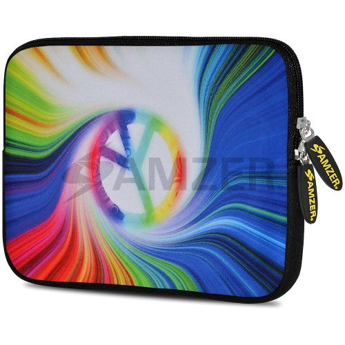 amzer-775-inch-designer-neoprene-sleeve-case-cover-pouch-for-tablet-ebook-and-netbook-rainbow-peace-