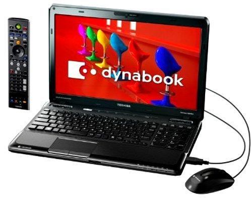 【地デジ】 TOSHIBA dynabook Qosmio T550/T4BB AVノートPC Windows7HomePremium搭載 15.6型ワイド 地上デジタルTVチューナー搭載 ベルベッティブラック PT550T4BBFB