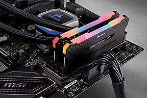 CORSAIR Vengeance RGB PRO 16GB (2x8GB) DDR4 2666MHz C16 LED Desktop Memory - Black (Color: RGB PRO - Black, Tamaño: (2x8GB))