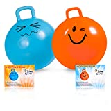 Hopping Ball for Kids, Teenagers and Adults, 22 Inch Diameter, Space Hopper Ball Holds up to 170 Lbs., Offers Hours of Fun for Boys and Girls, Safe and Durable Jumping Ball with Handle, Excellent Exercise At Any Age, Money Back Guarantee
