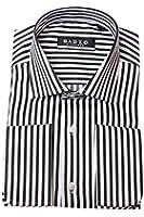 Gadzo® Umschlagmanschetten Hemd Slim fit gestreift Haifischkragen